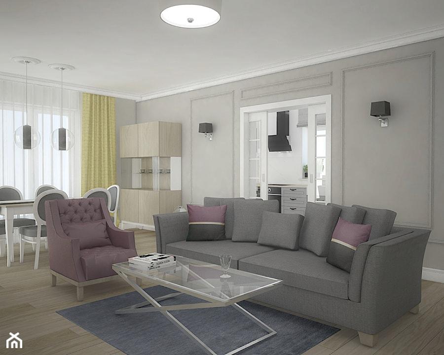 Elegancja w domu parterowym - Salon, styl eklektyczny - zdjęcie od Antracyt