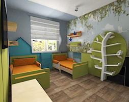 Segment w Markach - Średni szary zielony czarny pokój dziecka dla chłopca dla dziewczynki dla rodzeństwa dla malucha dla nastolatka, styl nowoczesny - zdjęcie od MONOdizajn Architektura i Wnętrza