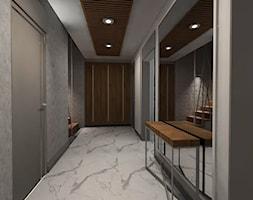 Nowoczesna klasyka - Średni biały szary hol / przedpokój, styl nowoczesny - zdjęcie od MONOdizajn Architektura i Wnętrza