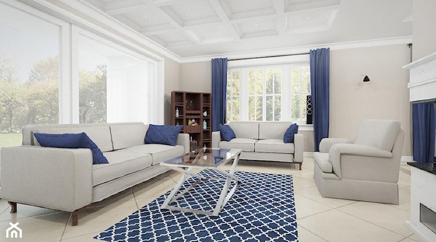 dom pod warszaw new york style salon styl klasyczny zdj cie od noomo studio architektury. Black Bedroom Furniture Sets. Home Design Ideas