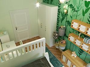 LEŚNY POKÓJ DZIECIĘCY - Średni biały zielony pokój dziecka dla chłopca dla dziewczynki dla ucznia dla malucha dla nastolatka, styl eklektyczny - zdjęcie od MARTA PERSKA INTERIORS