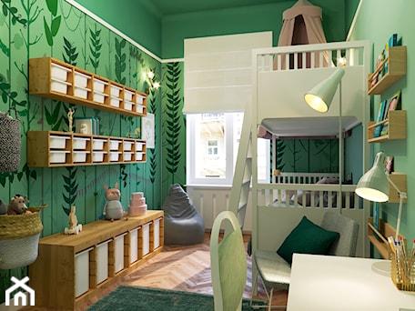 Aranżacje wnętrz - Pokój dziecka: LEŚNY POKÓJ DZIECIĘCY - Średni zielony pokój dziecka dla chłopca dla dziewczynki dla rodzeństwa dla ucznia dla nastolatka, styl eklektyczny - MARTA PERSKA INTERIORS. Przeglądaj, dodawaj i zapisuj najlepsze zdjęcia, pomysły i inspiracje designerskie. W bazie mamy już prawie milion fotografii!