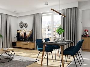 Projekt nowoczesnego mieszkania M01_2019 Wrocław