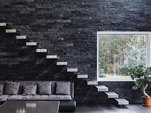 Średnie wąskie schody jednobiegowe drewniane, styl nowoczesny - zdjęcie od Aleksandra Kamińska 4