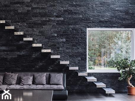 Średnie wąskie schody jednobiegowe betonowe, styl nowoczesny - zdjęcie od Aleksandra Kamińska 4