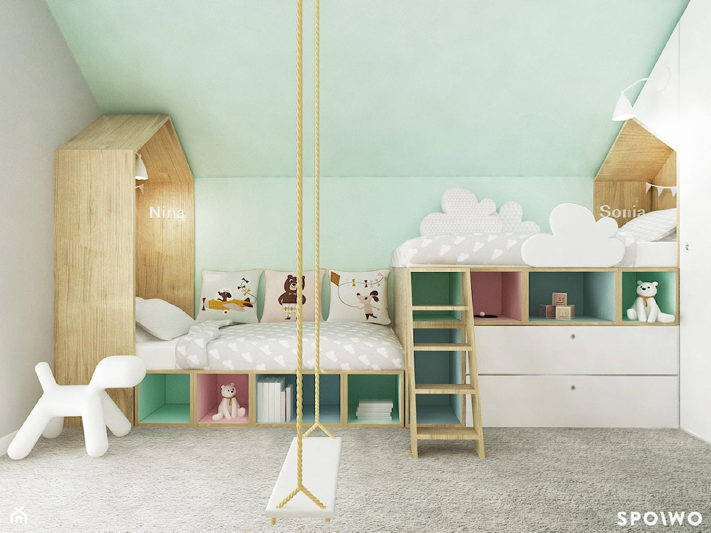 Sypialnia dziewczynek - zdjęcie od SPOIWO studio - Homebook