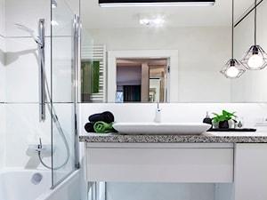Łazienka z elementami nowoczesnej bieli