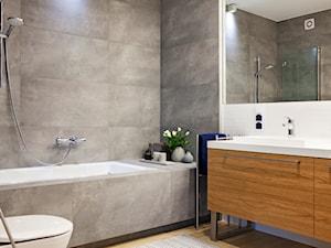 Łazienka w nowoczesnym stylu z elementami retro