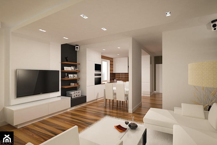 Mieszkanie w Zgierzu 1 - Salon, styl nowoczesny - zdjęcie od blok studio