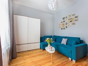 Apartament przy Monte Cassino Sopot - Mały szary salon, styl skandynawski - zdjęcie od Marina Apartments