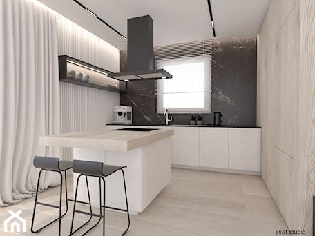 Aranżacje wnętrz - Kuchnia: dom Trzaskowo - Kuchnia, styl minimalistyczny - ESEF.STUDIO. Przeglądaj, dodawaj i zapisuj najlepsze zdjęcia, pomysły i inspiracje designerskie. W bazie mamy już prawie milion fotografii!