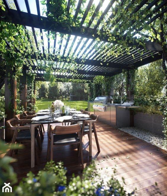 Aranżacje wnętrz - Ogród: Pergola w ogrodzie - Martyna. Przeglądaj, dodawaj i zapisuj najlepsze zdjęcia, pomysły i inspiracje designerskie. W bazie mamy już prawie milion fotografii!