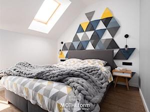 MOTHI.form ⋅ DOM W CHARAKTERZE INDUSTRIALNYM w Skawinie - Sypialnia, styl industrialny - zdjęcie od MOTHI.form