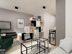 Salon i aneks sypialniany - zdjęcie od MOTHI.form
