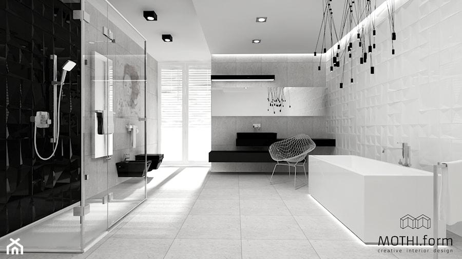 łazienka w czerni i bieli - zdjęcie od MOTHI.form