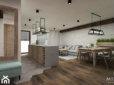 Aranżacje wnętrz - Salon: Salon z kuchnią - MOTHI.form. Przeglądaj, dodawaj i zapisuj najlepsze zdjęcia, pomysły i inspiracje designerskie. W bazie mamy już prawie milion fotografii!