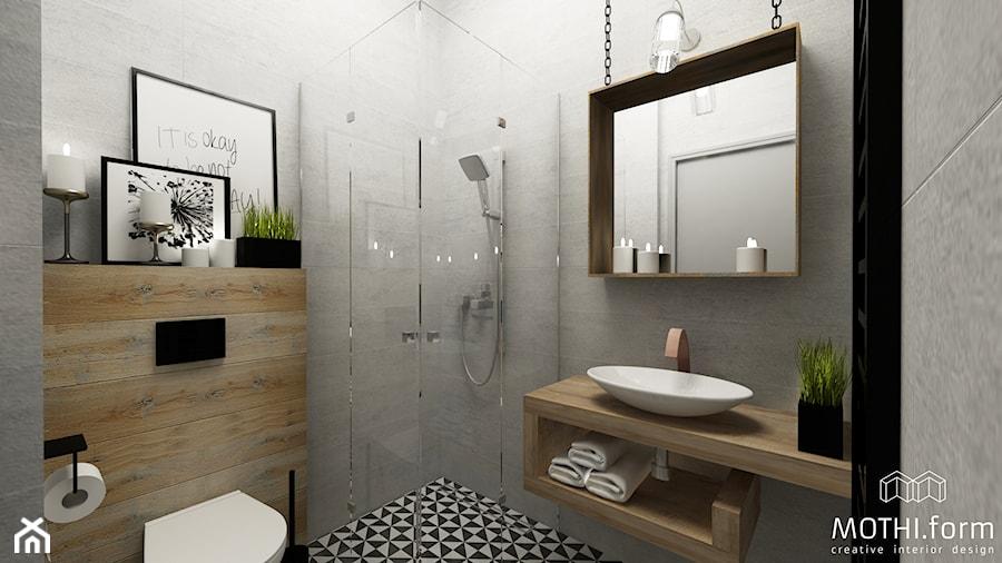 Mała łazienka W Stylu Loft Zdjęcie Od Mothiform Homebook