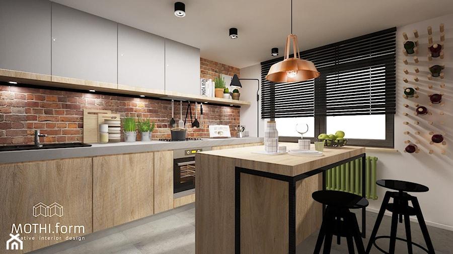kuchnia rustykalna  zdjęcie od MOTHI form -> Kuchnia Rustykalna Z Wyspą