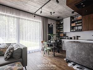 MOTHI.form ⋅ DOM W CHARAKTERZE INDUSTRIALNYM w Skawinie - Jadalnia, styl industrialny - zdjęcie od MOTHI.form