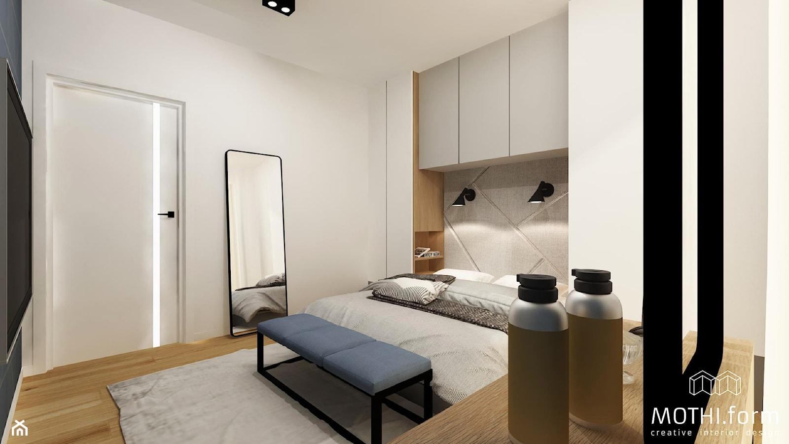 MOTHI.FORM ⋅ PRZYTULNE MIESZKANIE ⋅ KRAKÓW - Sypialnia, styl nowoczesny - zdjęcie od MOTHI.form - Homebook