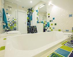 Kolorowa łazienka Dla Dzieci średnia Biała łazienka Na