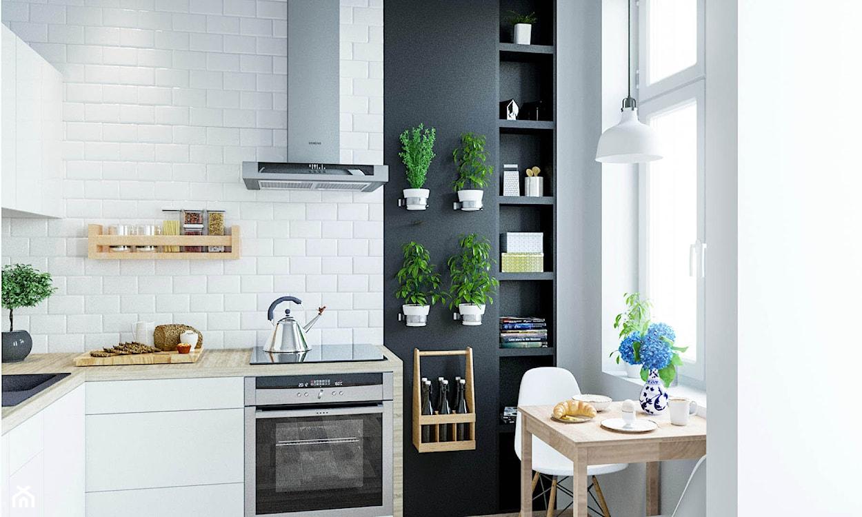 białe kafelki i białe meble w kuchni