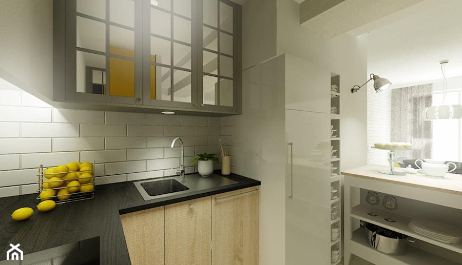 Mieszkanie na wynajem - Kuchnia, styl industrialny - zdjęcie od 3Deko Wnętrza