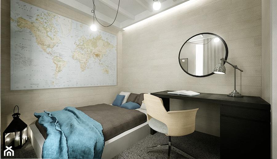 Mieszkanie na wynajem - Sypialnia, styl skandynawski - zdjęcie od 3Deko Wnętrza