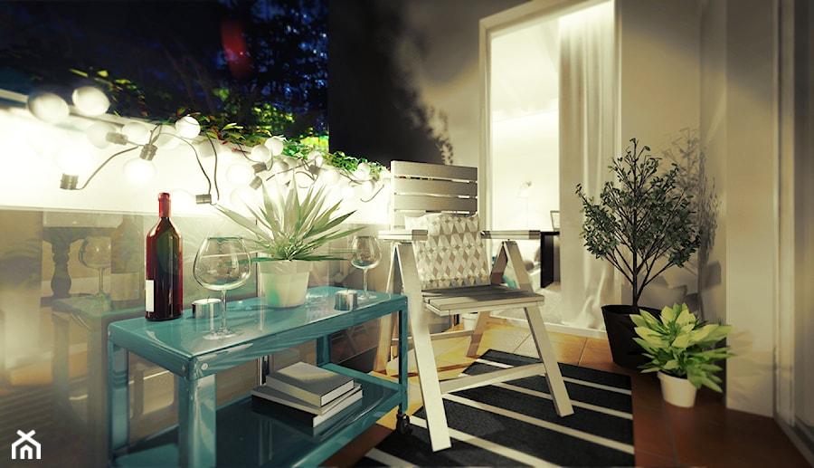 Mieszkanie na wynajem - Taras, styl nowoczesny - zdjęcie od 3Deko Wnętrza