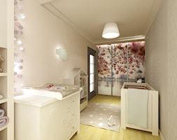 Pokój Tosi - Średni beżowy pokój dziecka dla dziewczynki dla niemowlaka, styl nowoczesny - zdjęcie od 3Deko Wnętrza