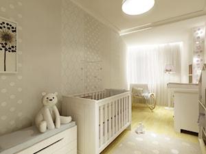 Pokój Tosi - Średni biały szary pokój dziecka dla chłopca dla dziewczynki dla niemowlaka, styl nowoczesny - zdjęcie od 3Deko Wnętrza