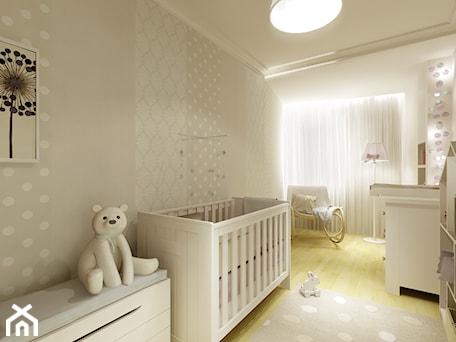 Aranżacje wnętrz - Pokój dziecka: Pokój Tosi - Średni biały szary pokój dziecka dla chłopca dla dziewczynki dla niemowlaka, styl nowo ... - 3Deko Wnętrza. Przeglądaj, dodawaj i zapisuj najlepsze zdjęcia, pomysły i inspiracje designerskie. W bazie mamy już prawie milion fotografii!