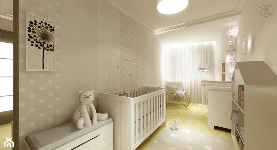 Aranżacje wnętrz - Pokój dziecka: Pokój Tosi - Średni biały szary pokój dziecka dla chłopca dla dziewczynki dla niemowlaka, styl nowoczesny - 3Deko Wnętrza. Przeglądaj, dodawaj i zapisuj najlepsze zdjęcia, pomysły i inspiracje designerskie. W bazie mamy już prawie milion fotografii!