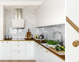 family spot - Średnia biała kuchnia w kształcie litery u, styl skandynawski - zdjęcie od SAJE ARCHITEKCI Joanna Morkowska-Saj