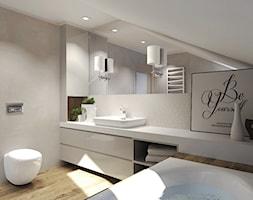 Duża łazienka na poddaszu, styl nowoczesny - zdjęcie od Agata Hann Architektura Wnętrz
