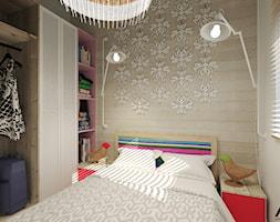 Dom letniskowy na wynajem - Mała szara sypialnia małżeńska, styl skandynawski - zdjęcie od Agata Hann Architektura Wnętrz - Homebook