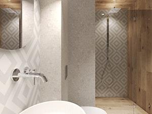 Mieszkanie na wynajem krótkoterminowy - Średnia łazienka w bloku w domu jednorodzinnym bez okna, styl nowoczesny - zdjęcie od Agata Hann Architektura Wnętrz
