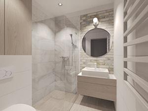 Dom pod Kołobrzegiem w zacisznym miejscu. - Mała łazienka w bloku w domu jednorodzinnym bez okna, styl rustykalny - zdjęcie od Agata Hann Architektura Wnętrz