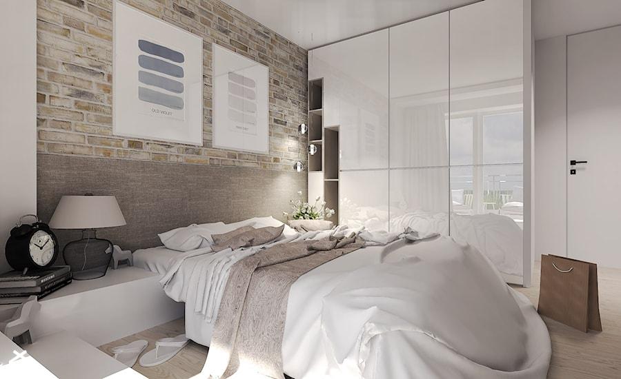 Średnia sypialnia małżeńska, styl nowoczesny - zdjęcie od Agata Hann Architektura Wnętrz