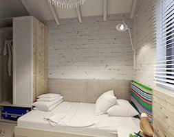 Dom letniskowy na wynajem - Mała szara sypialnia, styl skandynawski - zdjęcie od Agata Hann Architektura Wnętrz