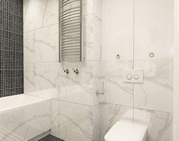 suspenzo_no.25 - Mała biała czarna łazienka na poddaszu w bloku w domu jednorodzinnym bez okna, styl klasyczny - zdjęcie od suspenzo architectural group - Homebook