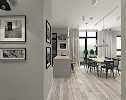 suspenzo_no.22 - Średnia otwarta szara jadalnia w kuchni, styl industrialny - zdjęcie od suspenzo architectural group