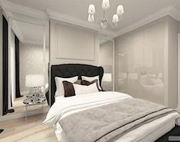 suspenzo_no.25 - Średnia biała szara sypialnia dla gości, styl klasyczny - zdjęcie od suspenzo architectural group - Homebook