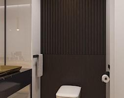 suspenzo_no.26 - Mała czarna szara łazienka w bloku w domu jednorodzinnym bez okna, styl nowoczesny - zdjęcie od suspenzo architectural group - Homebook
