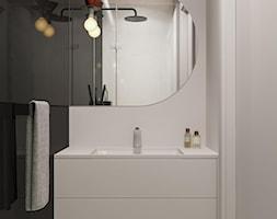 suspenzo_no.26 - Mała biała czarna łazienka w bloku w domu jednorodzinnym bez okna, styl nowoczesny - zdjęcie od suspenzo architectural group - Homebook