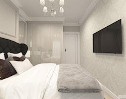 suspenzo_no.25 - Średnia biała szara sypialnia małżeńska, styl klasyczny - zdjęcie od suspenzo architectural group - Homebook