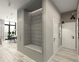 suspenzo_no.22 - Średni brązowy szary hol / przedpokój, styl industrialny - zdjęcie od suspenzo architectural group
