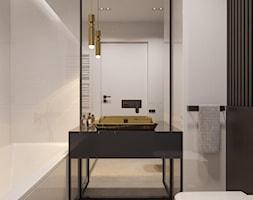 suspenzo_no.26 - Mała szara łazienka w bloku w domu jednorodzinnym bez okna, styl nowoczesny - zdjęcie od suspenzo architectural group - Homebook