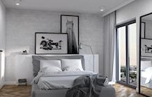Sypialnia z dużą zabudową szaf - zdjęcie od Cloud Concept Studio