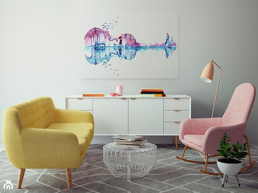 Muzyka serc - nowoczesny obraz na płótnie - zdjęcie od VAKU-DSGN